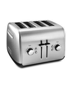 Grille-pain 4 tranches avec levier manuel Acier Inoxydable